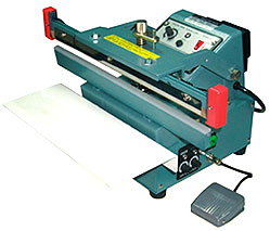 "Heat Sealer - 12"" Upper Jaw Automatic Table Top Foot Sealer, 2mm Seal"